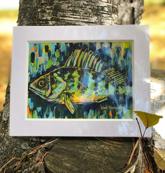 Jumbo Perch Art | Kari Townsdin