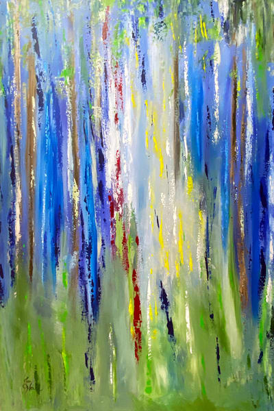 Jo Neill   Abstract Forest Original Art | Branson West Art Gallery - Mary Phillip