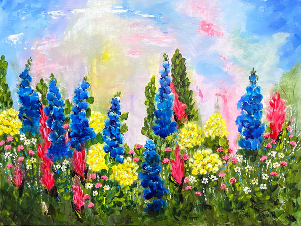 Jo Neill   Flower Garden   Original Art | Branson West Art Gallery - Mary Phillip