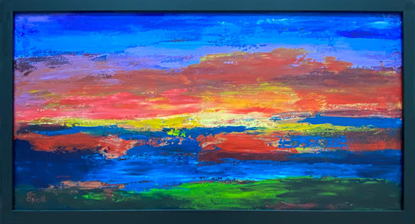 Jo Neill   Sunset   Original   Framed Art | Branson West Art Gallery - Mary Phillip