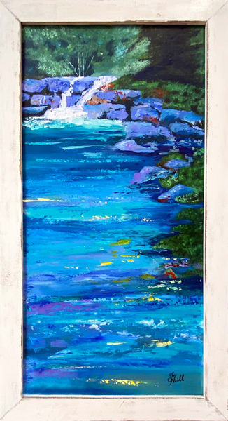 Jo Neill   Waterfall And Pool   Original   Framed Art | Branson West Art Gallery - Mary Phillip