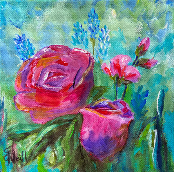 Jo Neill   Roses Small Art | Branson West Art Gallery - Mary Phillip