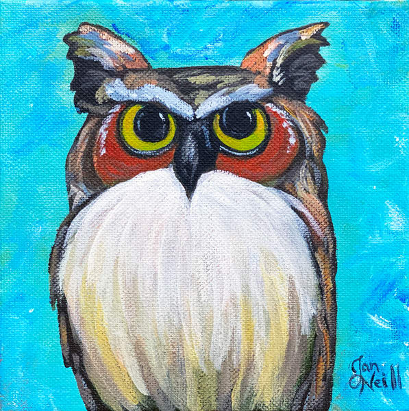 Jo Neill   Grumpy Owl Orig Art | Branson West Art Gallery - Mary Phillip