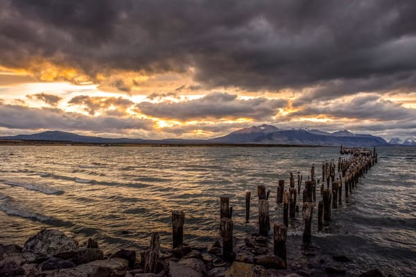 Sunset In Puerto Natales Art | karenihirsch