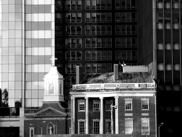 Greeting Card Old And New   Lower Manhattan | Photoissimo - Fine Art Photography