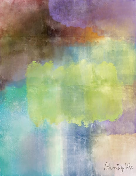 colorful calm abstract art print