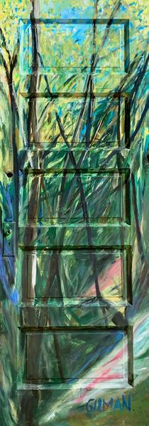 The Green Portal   Festival Painting  Art | Emily Gilman Beezley Fine Art