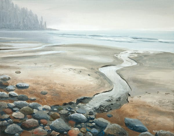 West coast painting featuring the ocean at Florencia Bay in Ucluelet BC