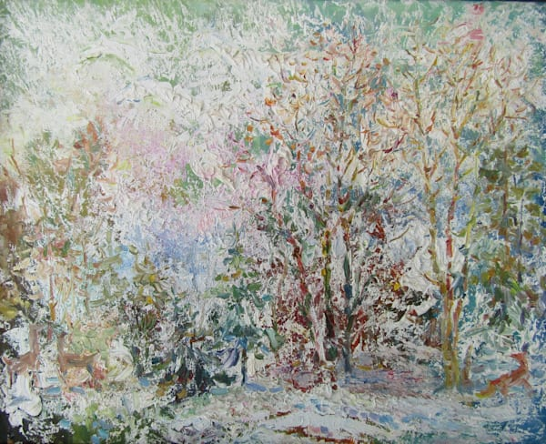 Print from painting Winter tale