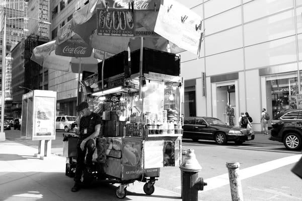 Street Vendor In B&W Photography Art | Julie Williams Fine Art Photography