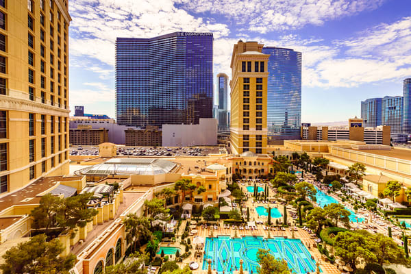 Cosmopolitan Hotel view from Bellagio, Las Vegas by McClean Photography