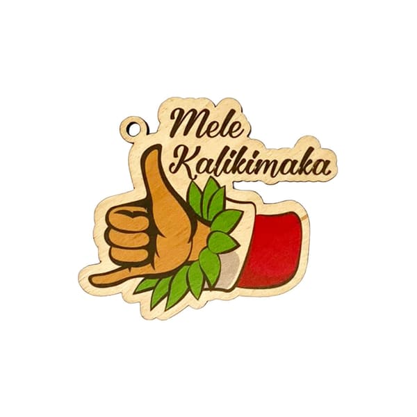 Shaka Mele Kalikimaka Ornament | Pictures Plus