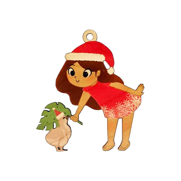 Keiki Christmas Girl Ornament | Pictures Plus