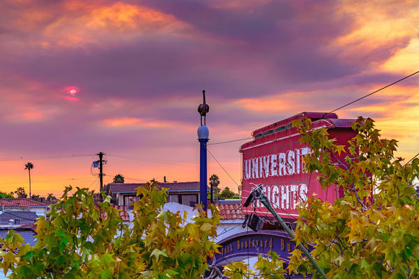University Heights Sign, San Diego Sunset Wall Art from Kairoa