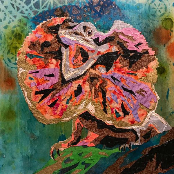 Frilled Neck Lizard Art   Kristi Abbott Gallery & Studio