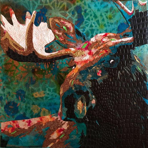 Moose Art   Kristi Abbott Gallery & Studio
