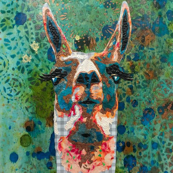 Llama Art   Kristi Abbott Gallery & Studio