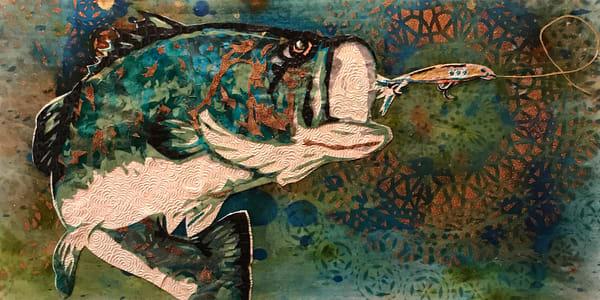Large Mouth Bass Art   Kristi Abbott Gallery & Studio