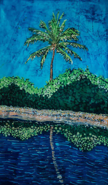 Shop prints of Tropical Palms: by artist Muffy Clark Gill
