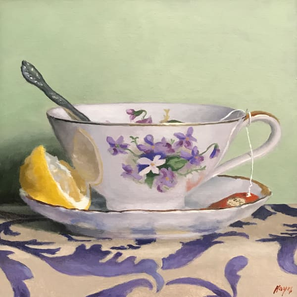 Teacup, Lemon, Silver Art | Jeff Hayes Fine Arts