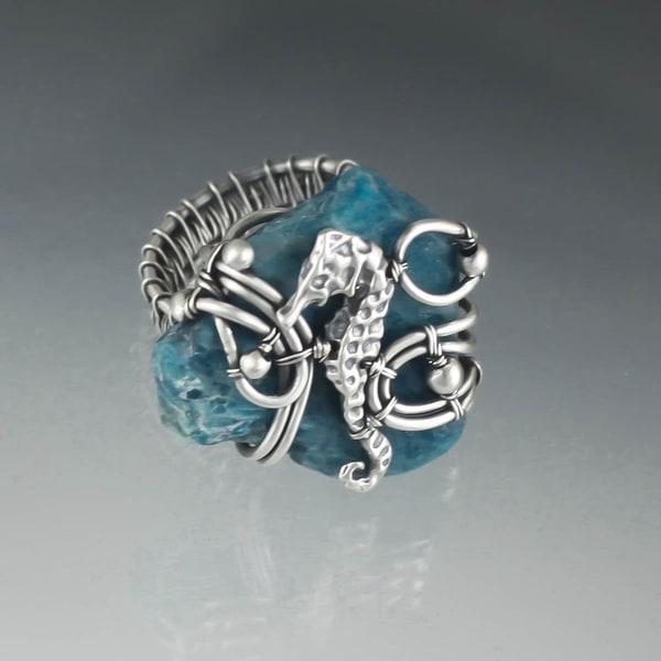Seahorse Ring Art | Texas MerMade