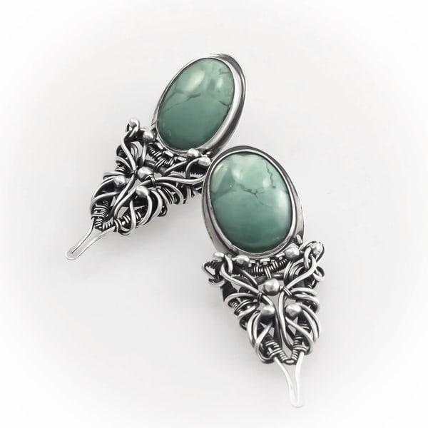 Blue Viking Earrings Art | Texas MerMade
