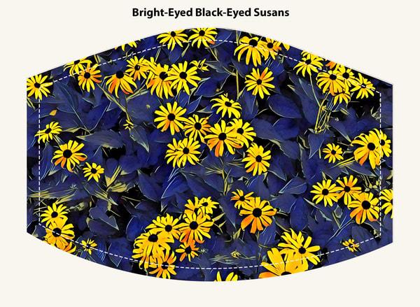 Bright Eyed Black Eyed Susans Face Mask
