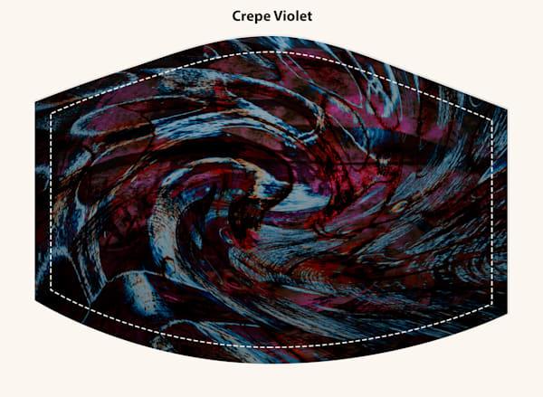 Crepe Violet Face Mask