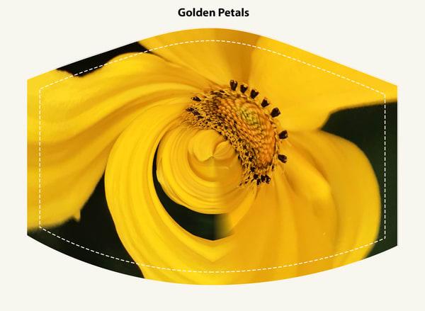 Golden Petals Face Mask