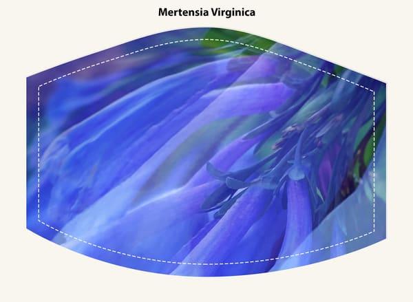 Mertensia Virginica Face Mask