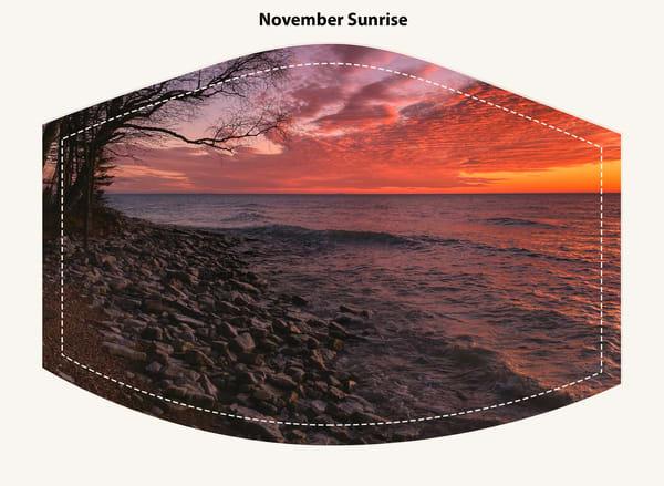 November Sunrise Face Mask