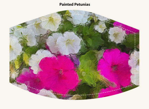 Painted Petunias Face Mask
