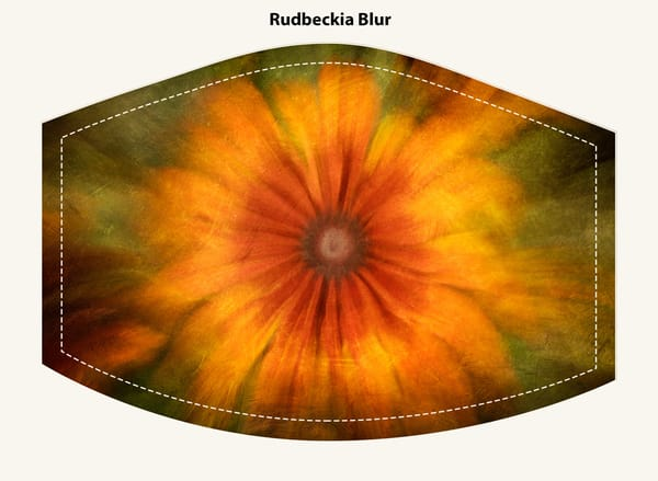 Rudbeckia Blur Face Mask