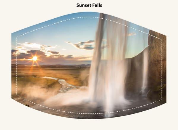 Sunset Falls Face Mask