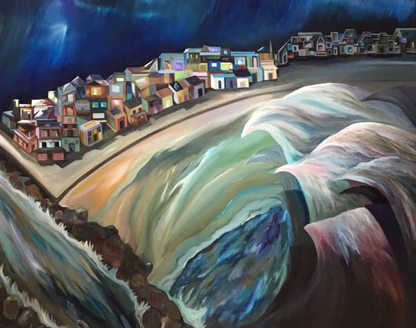 """""""And The Water Shall Rise"""" Oil Painting by Emily Gilman Beezley"""