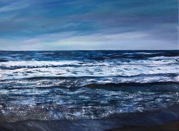 """Turbulent Ocean"" Oil Painting by Emily Gilman Beezley"