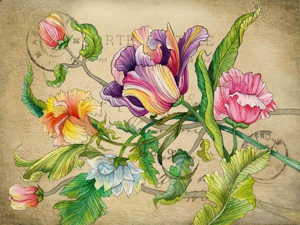 Floral 02 Vintage Art | Kyle Creative
