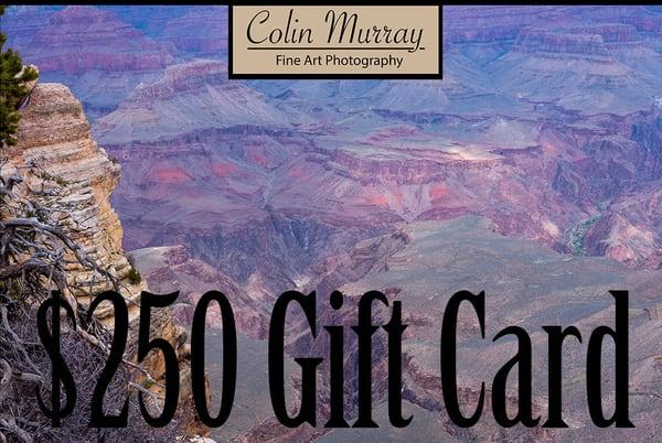 $250 Gift Card   Colin Murray Photography LLC
