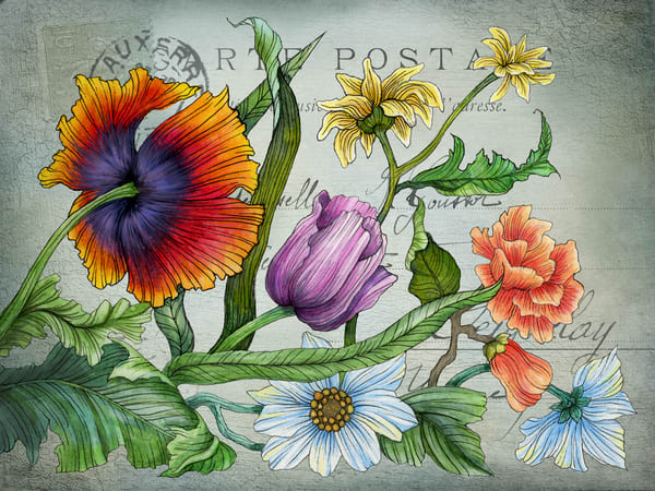 Floral 01 Vintage Art | Kyle Creative