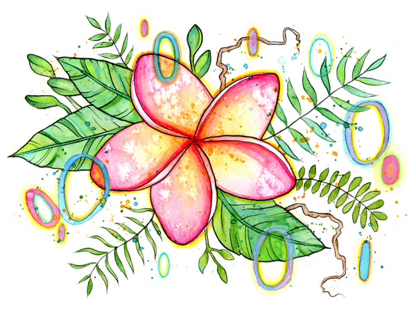 Hawaiian Floral 01 Art | Kyle Creative