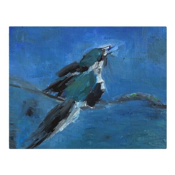 Woven Placemats Blue Bird By Artist Ane Howard