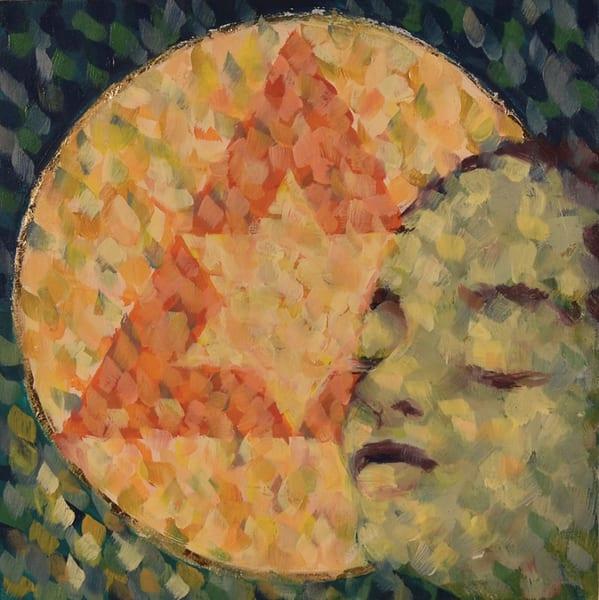 painting, face, geometry, spiritual