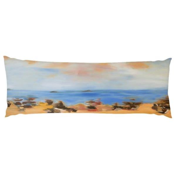 ocean beach body pillow