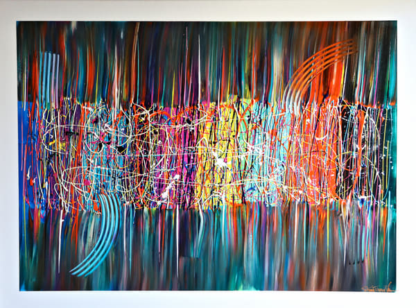 Original Acrylic on Canvas Abstract Painting Jubilee