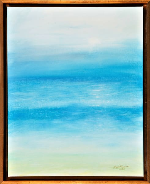 Mesmerizing Marine Layer Abstract Framed Oil Painting Original