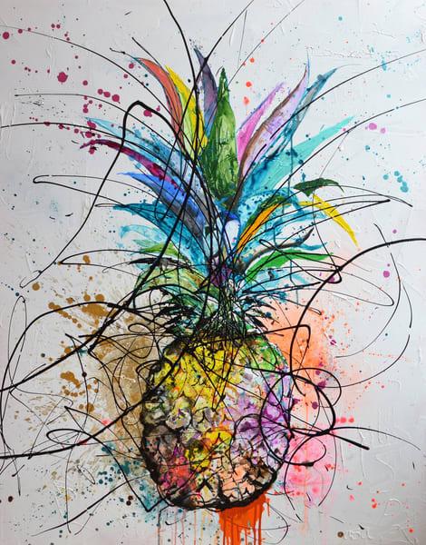 Neon Pineapple Art | Asaph Maurer