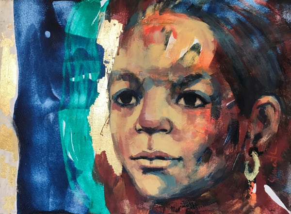 figurative, painting, healer
