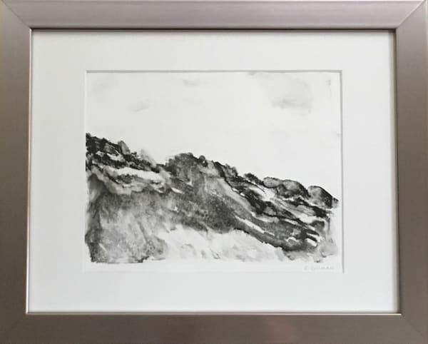 """Maine Coast"" Original Monotype - Work on Paper"