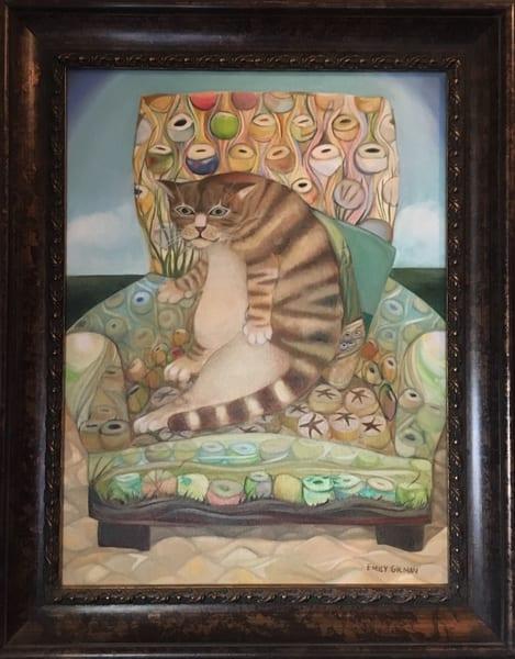 Sold: Cat In A Chair Art | Emily Gilman Beezley LLC