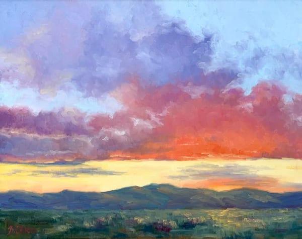 High Desert Sundown Art   B. Oliver, Art